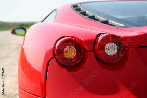Canvas Print rear of red sports car