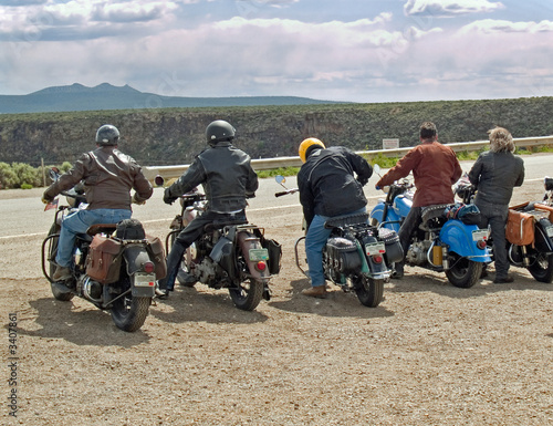 Photo group of motorcyclists