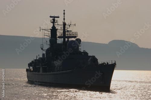 Canvas Print british destroyer