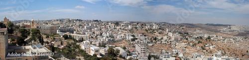 Foto Panoramic view of Bethlehem, Israel