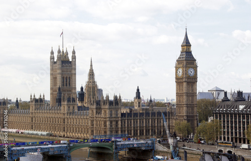 Fototapeta Big Ben - Palace of Westminster an der Themse in London