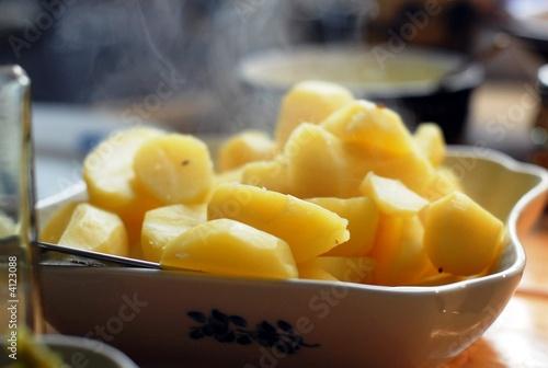 Fototapeta Dampfende Kartoffeln