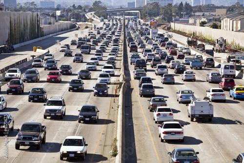 Canvas Print Los Angeles Freeway Traffic--the 405
