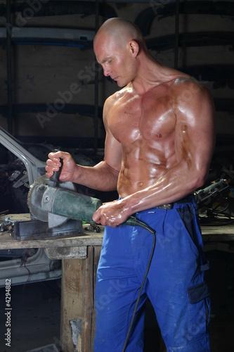 canvas print motiv - SAWImedia : muskulöser Mann