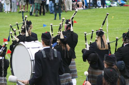 Carta da parati highland band rear view