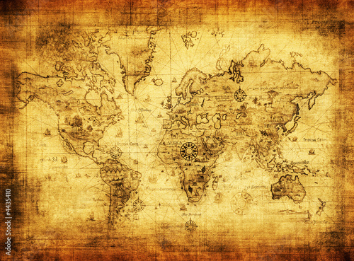 ancient map of the world #4435410