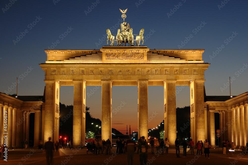 Leinwandbild Motiv - Eishier : Brandenburg gate