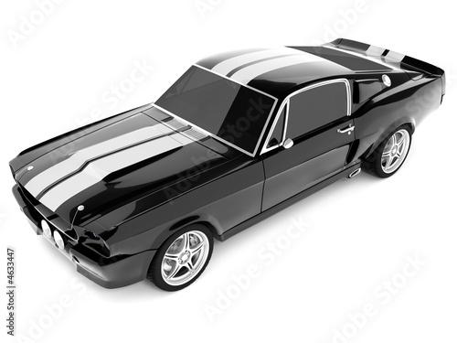 Black Classical Sports Car фототапет