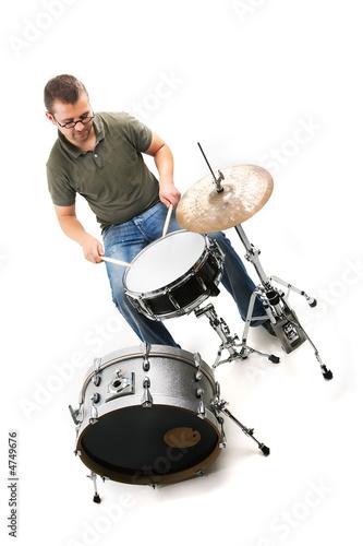 Obraz na plátně Am Schlagzeug