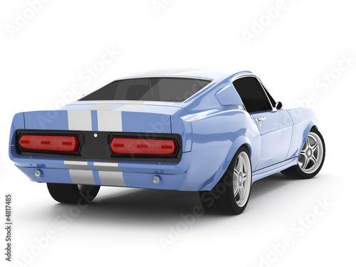 Платно Light-blue Classical Sports Car