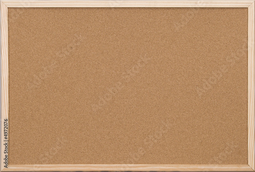 Fotomural blank office cork board with wooden frame
