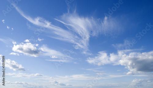 Canvas Print dark blue sky and cloud