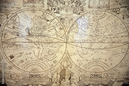 The ancient world map.