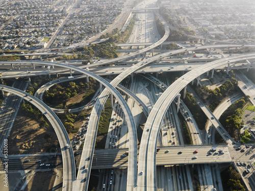 Highway interchange. Fototapet