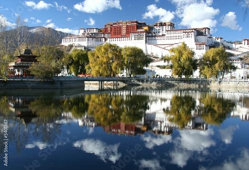 Potala -dalai lama residence Fototapet