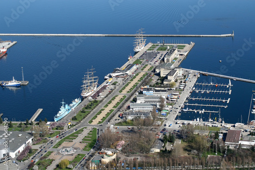 view on gdynia city port from the plane #5614290