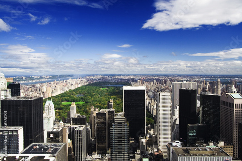 New York Skyline and Central Park Poster Mural XXL