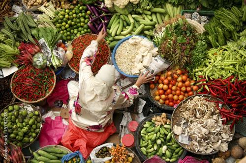 Canvas Print vegetable market