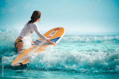 Obraz na płótnie Seksowne surfowanie 11