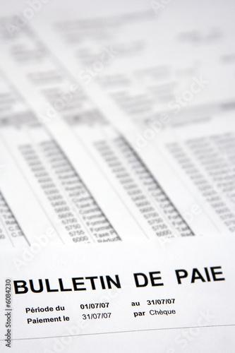 Obraz na plátně Rémunération, salaire et bulletin de paie