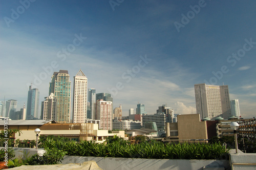 Roof top view of Makati, Philippines