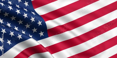Rendered usa flag