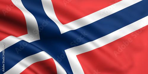 Wallpaper Mural Norwegen Fahne