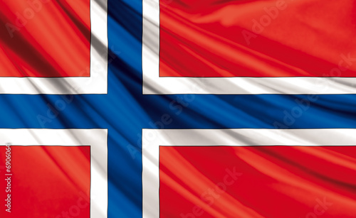 Photo Drapeau de Norvège, Royaume de