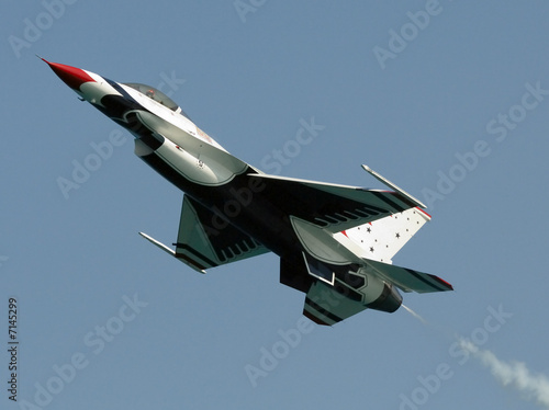 Canvas Print Jet in action