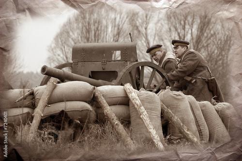 Wallpaper Mural Artillery team WWI