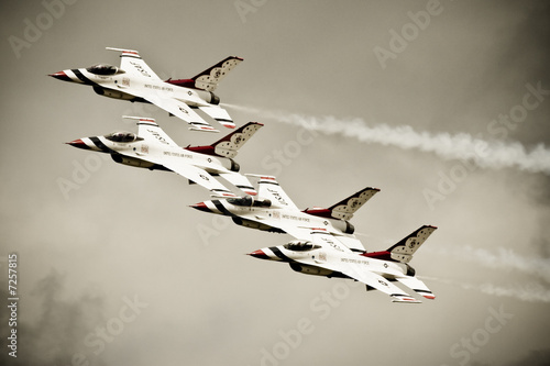 Canvas Print Thunderbirds in Formation