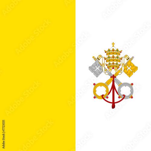 Fototapeta Drapeau Vatican True Colors