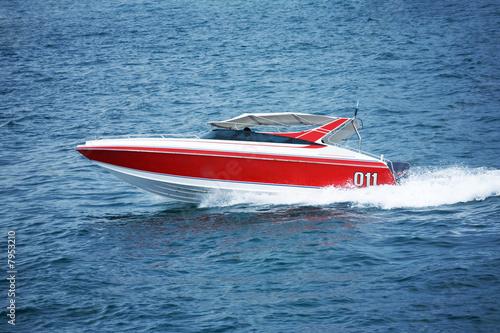 Fotografie, Obraz Fast motorboat
