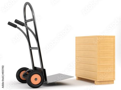 Fotografia barrow truck and box