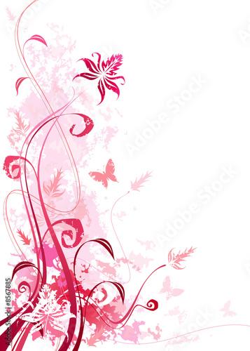 Pink color floral, vector illustration layered file. #8567885
