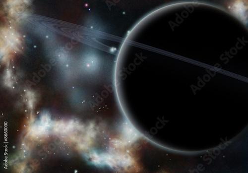 Digital created starfield with cosmic Nebula #8660000