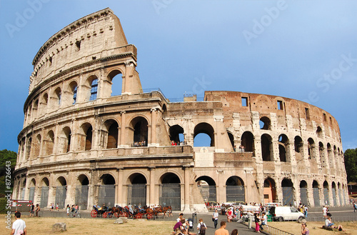 The Colosseum, famous ancient amphitheater in Rome Fotobehang