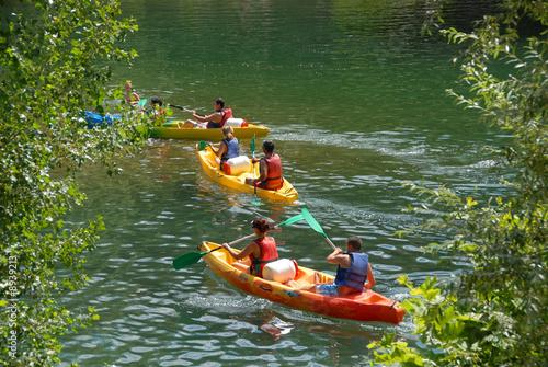 Tableau sur Toile canoe kayak