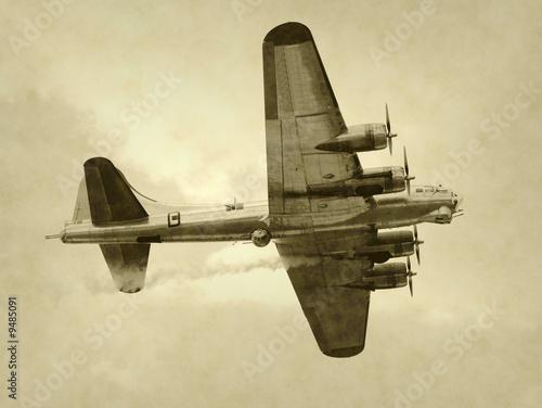 Fényképezés World War II era American bomber