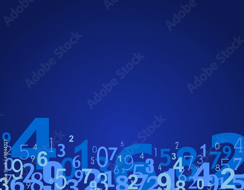 Canvas Print Numbers background