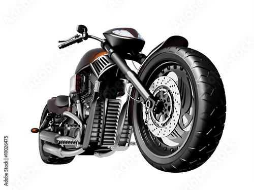 Canvas Print Motorcycle on a white background