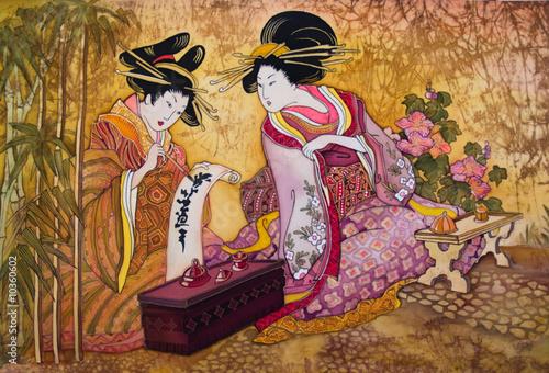 geisha Japan batik