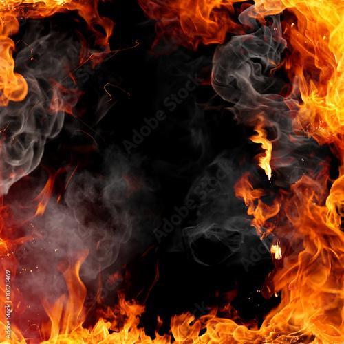 Obraz na płótnie Fire frame