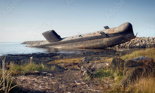 Canvas Print The Leaning Submarine