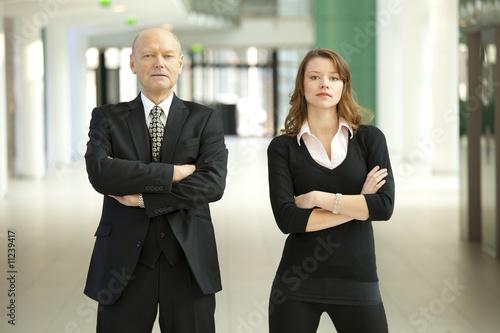 Fototapeta tough business team close