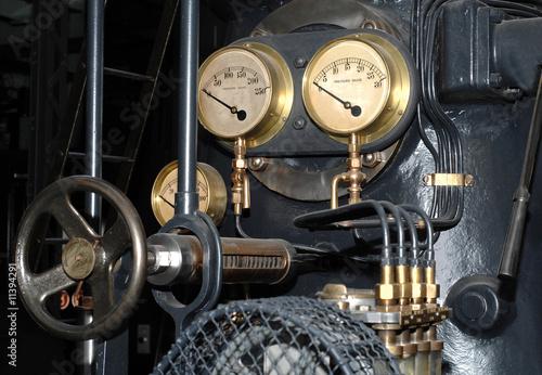 Canvas Print Old steam engine detail