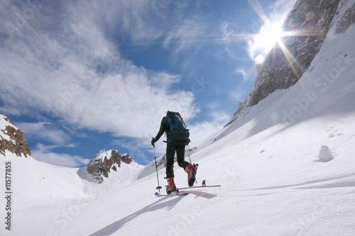 Canvas Print Skitour