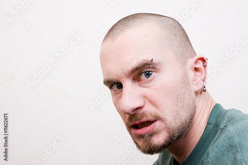 Fototapeta portrait of an evil man