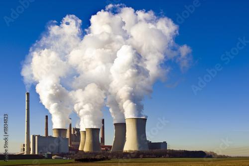 Braunkohlekraftwerk im Rheinland Fototapete