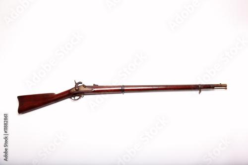 Obraz na plátně Civil War Musket and Clipping Path